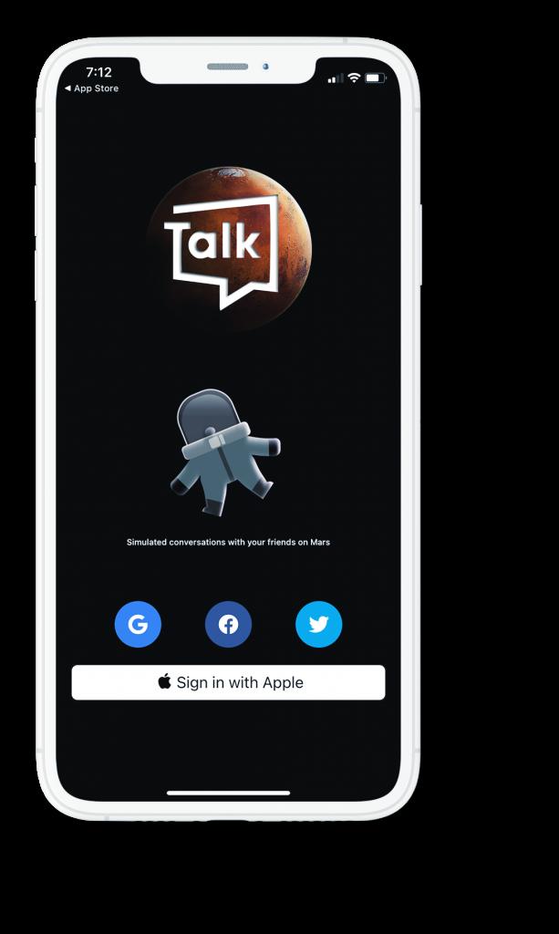 marstalk app screen.